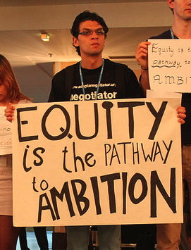 Equity Protest at UN Climate talks